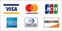VISA / MasterCard / JCB / AMERICAN EXPRESS / Diner Club / DISCOVER